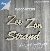 6320/0007 Woodsters - Houten woorden - Zee - Zon -Strand