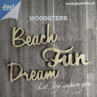6320/0008 Woodsters - Woorden hout: Dream - Beach - Fun