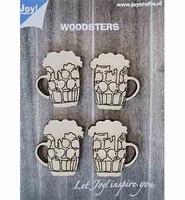6320/0017 Woodsters - 4 Bierpullen