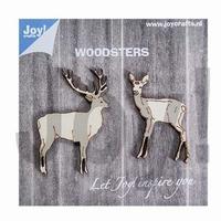 6320/0010 Woodsters - Houten hertjes