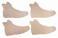 6320/0018 MDF boekje - Sneaker 4st 150x95 mm