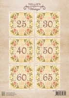 NEVI049 Decoupage sheets A4 Vintage Numbers-1