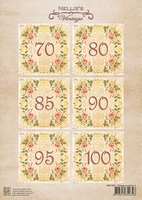 NEVI050 Decoupage sheets A4 Vintage Numbers-2