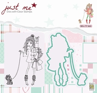 JMSD005 Just Me Die + Clear stamp Christmas shopping