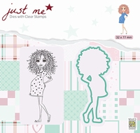 JMSD007 Just Me Die + Clear stamp Pregnant