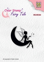 FTCS019 Clear stamps Fairy Tale nr. 17 Elf on moon