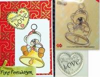 2 Stempels craddy met bel en stempel created with love.