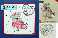 2 Stempels Creddy met schoen en Created with love.