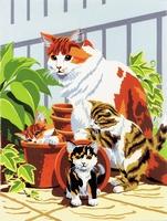 PJS31 PBN Junior Small CAT AND KITTENS