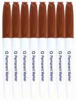 8.9021 Permanent Marker Rood Bruin per stuk