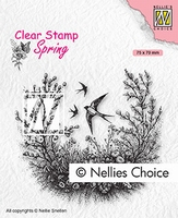 SPCS016 Clear Stamps Spring Spring is in the air