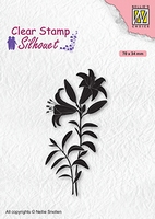 SIL078 Clear stamps Silhouettes Lily