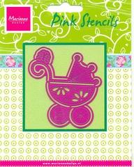 PK9002 - Pink stencils Marianne Design