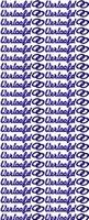 ST074G Sticker Verloofd Goud