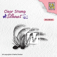 SIL084 Clear stamps Silhouettes Blooming grass 3