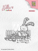 NCCS001 Nellie's Cuties Clear stamps Lena gardening