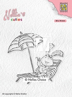 NCCS002 Nellie's Cuties Clear stamps Lena on holidays