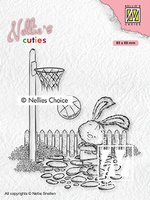 NCCS006 Nellie's Cuties Clear stamps Lars the sportsman
