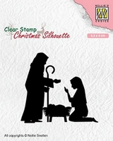 CSIL007 Christmas Silhouette Clear stamps kerststal 2