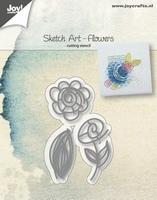 6002/1035 Joy! crafts - Die - Sketch art - Flowers