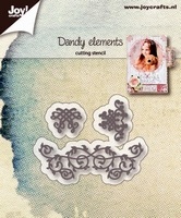6002/1225 Snijstencils - Dandy elementen