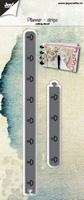 6002/1260 Snijstencil - Planner-strips