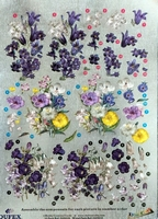 248608 Dufex Freestyle Decoupage bloemen paars