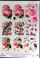 248609 Dufex  Decoupage Bloemen roos