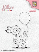 NCCS008 Nellie's Cuties Clear stamps Young deer with balloon