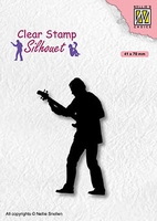 SIL088 Clear stamps Teenagers serie Guitar player