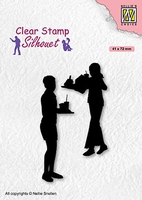 SIL089 Clear stamps Teenagers serie Snacktime