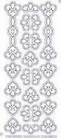 7001/0002 Borduurstickers Ornamenten -  Transparant Goud