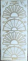 STAR3208 Borduurstickers  -  Transparant Goud