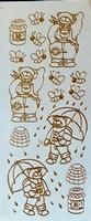 ST146G Sticker beertjes Goud