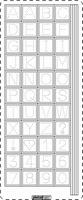 PU357Z Stickers ABC Transparant-Zilver