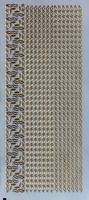 PU335G Stickers randen Goud