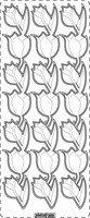 PU359TRZ Stickers Tulpen Transparant-Zilver