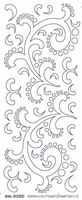 ST3050DBG Sticker Div.Ornament  Donkerblauw-goud