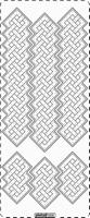 PU358TRG Stickers Ornamenten - Transparant-Goud