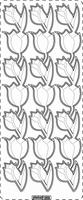 PU359TRG Stickers Tulpen Transparant-Goud