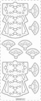 PU362TRZ Borduursticker Transparant-Zilver