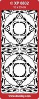 XP6802THHB Sticker Ornamenten Holo.Hemelsblauw
