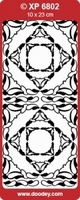 XP6802TZ Sticker Ornamenten Transparant/Zilver