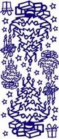 ST533G Sticker Kerstboom Goud