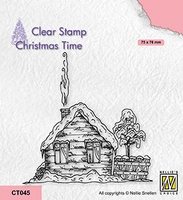 CT045 Christmas time clear stamps Snowy cottage-2