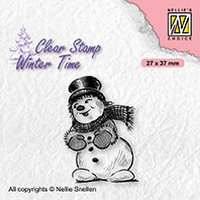 WT006 Clear stamps winter time Snowman with top hat