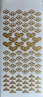 7001/0201Z Sticker hoekjes hartjes Zilver