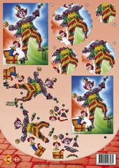 CD10015 Carddeco Clown
