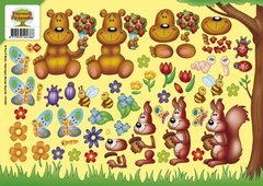 CD10021 Carddeco Forest Friends