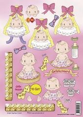 CD10026 Carddeco Geboorte Meisje